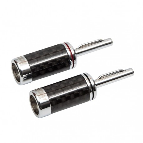 EGM Audio Banana Plug – Rhodium Plated (Pair) Carbon