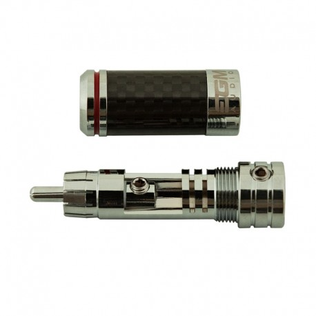 EGM Audio RCA Plug – Rhodium Plated – Red