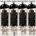 MULLARD EL84 MATCHED QUAD