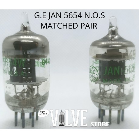 G.E 5654W MATCHED PAIR